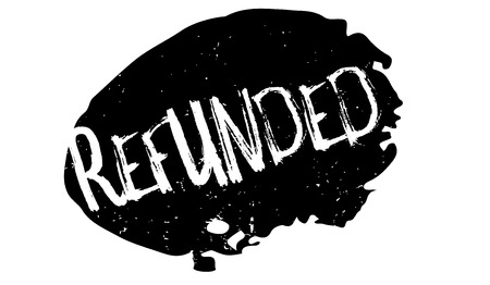 Refunded rubber stamp 向量圖像