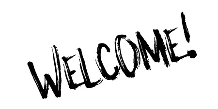 Welcome rubber stamp