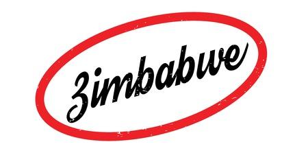 Zimbabwe rubber stamp Illustration