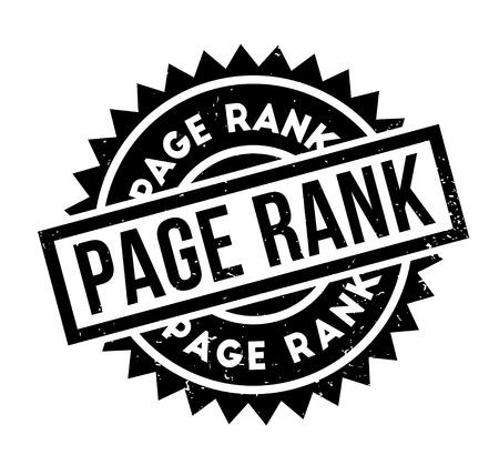Page Rank sello de goma