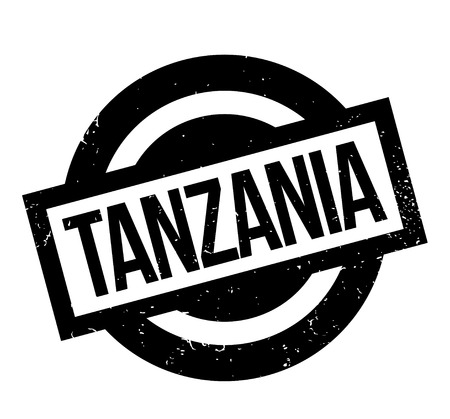 Tanzania rubber stamp. Grunge design with dust scratches. Effects can be easily removed for a clean, crisp look. Color is easily changed. 向量圖像