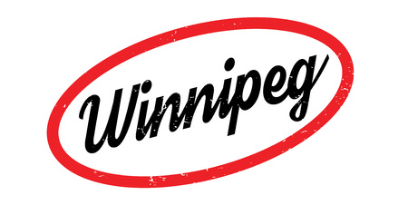 Winnipeg rubber stamp. Grunge design with dust scratches. Effects can be easily removed for a clean, crisp look. Color is easily changed.