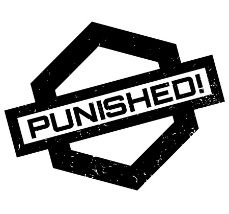 prison break: Punished rubber stamp. Grunge design with dust scratches. Effects can be easily removed for a clean, crisp look. Color is easily changed.