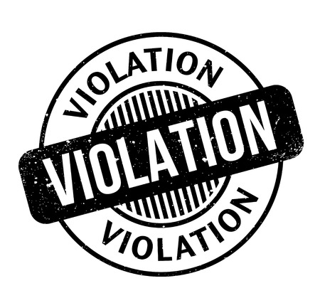 Violation rubber stamp Stock Vector - 86442507