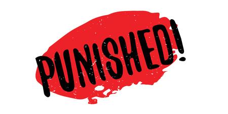 breaking law: Punished rubber stamp Illustration