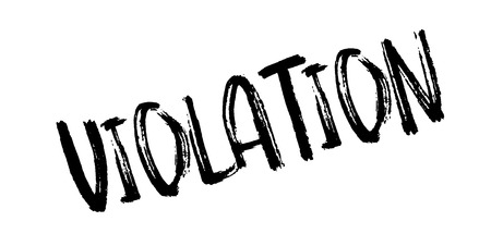 Violation rubber stamp Illustration
