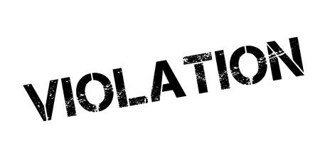 Violation rubber stamp Illustration