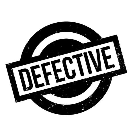 defective: Defective rubber stamp Illustration