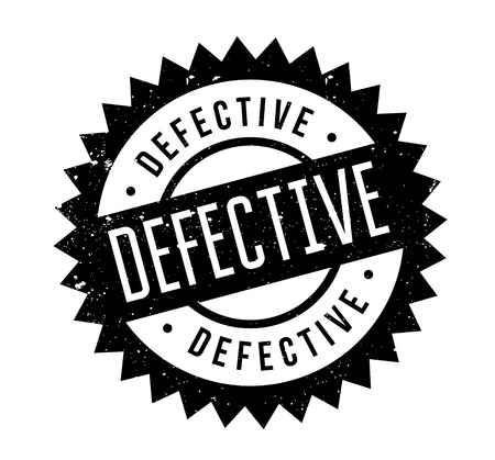 Defective rubber stamp Illustration