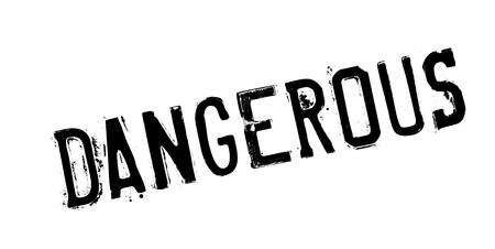 Dangerous rubber stamp Ilustrace