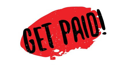 Get Paid rubber stamp