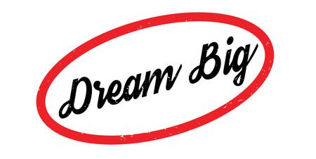 Dream Big rubber stamp Banque d'images - 86379017