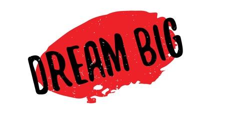 Dream big rubber stamp Banque d'images - 86379018