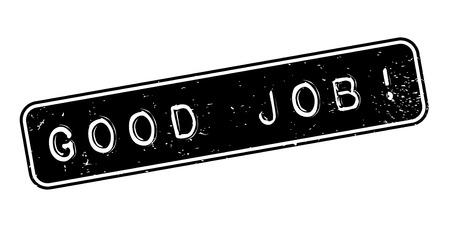 Good Job rubber stamp