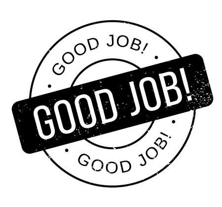 Timbre de bon Job Banque d'images - 86379081