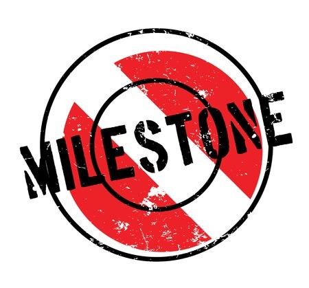 Milestone rubber stamp