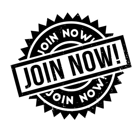 Join Now rubber stamp
