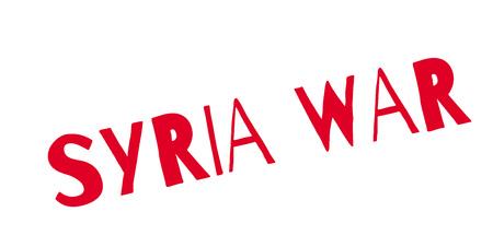 Syria War rubber stamp Illustration