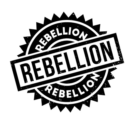 Rebellion rubber stamp Stock Vector - 86527230