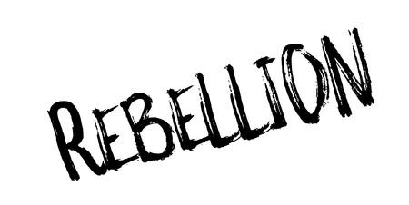 Rebellion rubber stamp Banco de Imagens - 86527278