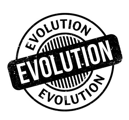 Timbre en caoutchouc Evolution Banque d'images - 86527323