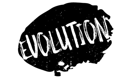 Evolution rubber stamp Vektoros illusztráció