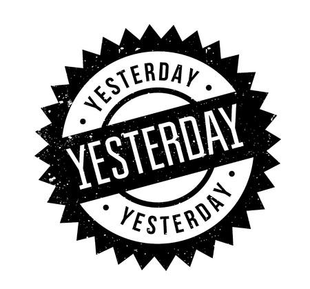 Yesterday rubber stamp Illustration