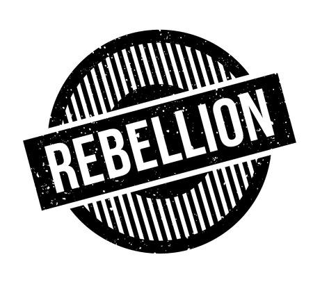 Rebellion rubber stamp Banco de Imagens - 86527491