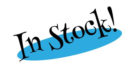 In Stock rubber stamp Illusztráció