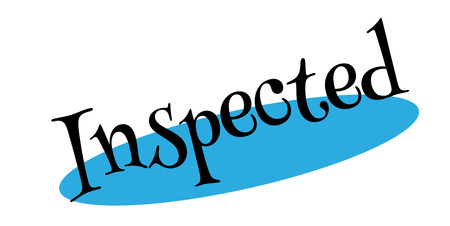 inspected: Inspected rubber stamp