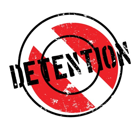 Detention rubber stamp