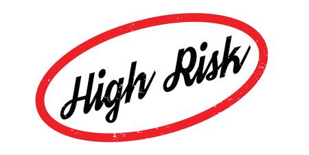 High Risk rubber stamp Illustration