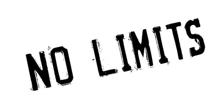 unrestricted: No Limits rubber stamp Illustration