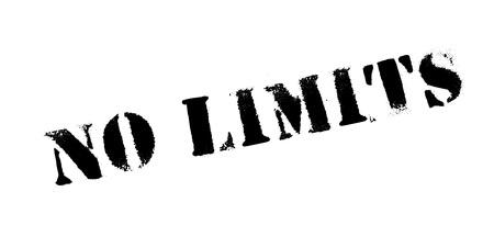 No Limits rubber stamp Illustration