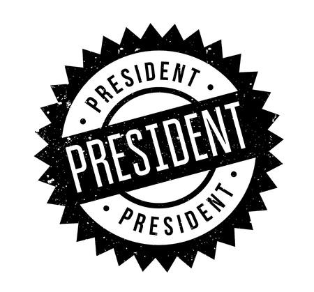 President rubber stamp Иллюстрация