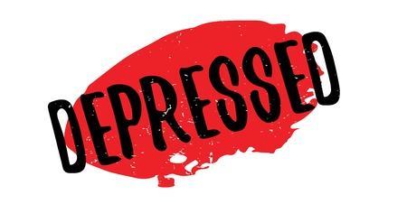 Depressed rubber stamp