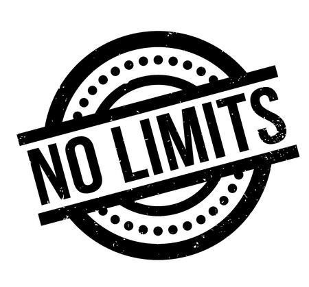 No Limits rubber stamp Illustration