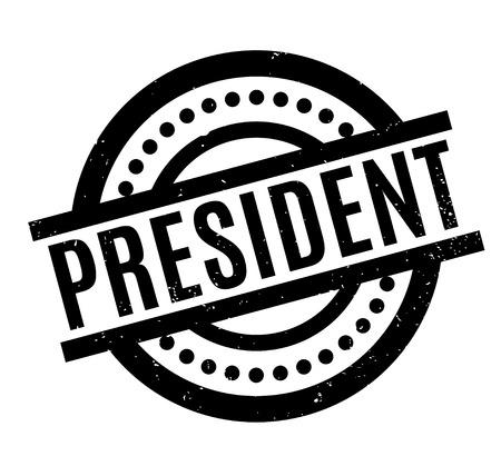 President rubber stamp Illustration