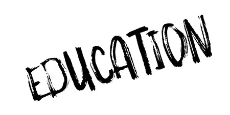 Education rubber stamp Illustration