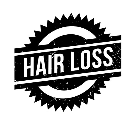 Hair loss rubber stamp. Ilustracja