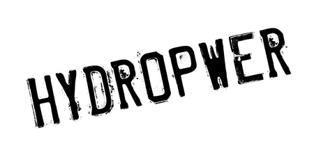Hydropwer-Stempel Standard-Bild - 86727727