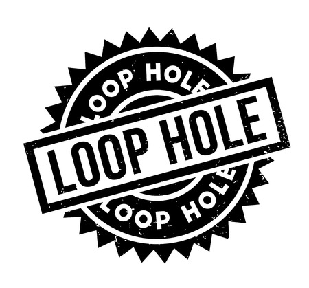 Loop Hole rubber stamp