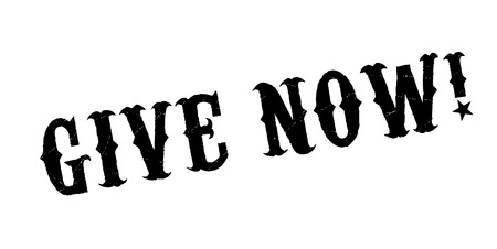 Give Now rubber stamp