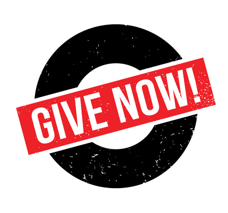 granting: Give Now rubber stamp