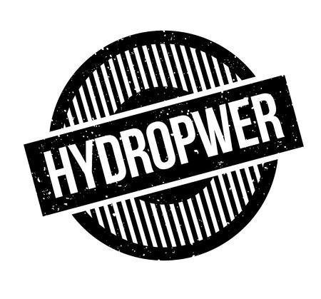 Hydropwer rubber stamp Illustration