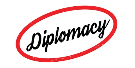 tact: Diplomacy rubber stamp Illustration