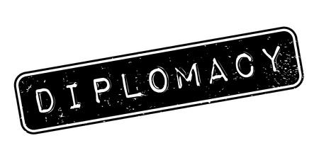 Diplomacy rubber stamp Stok Fotoğraf