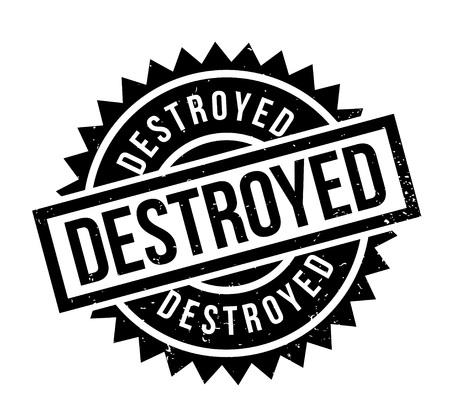 Destroyed rubber stamp