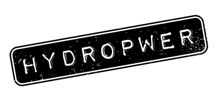 Hydropwer-Stempel Standard-Bild - 86727875