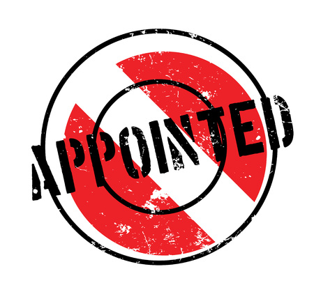 appointed: Appointed rubber stamp Illustration